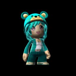 blue bear met girl